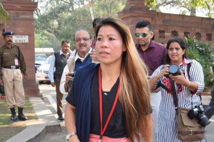 mary kom in parliament