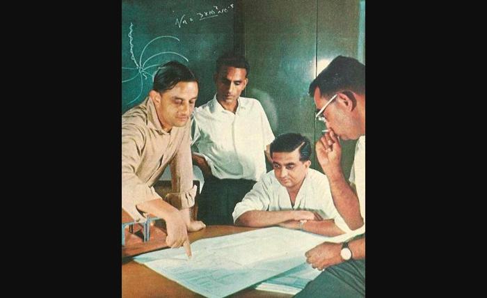 The 1963 rocket launch meeting involving Vikram Sarabhai,