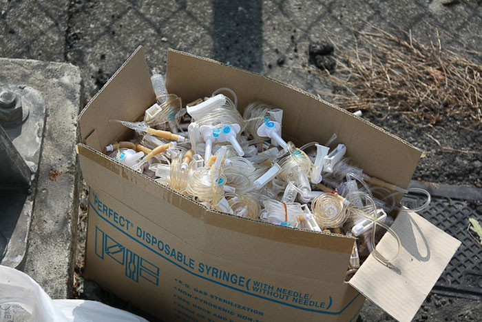 Private hospitals reuse disposables