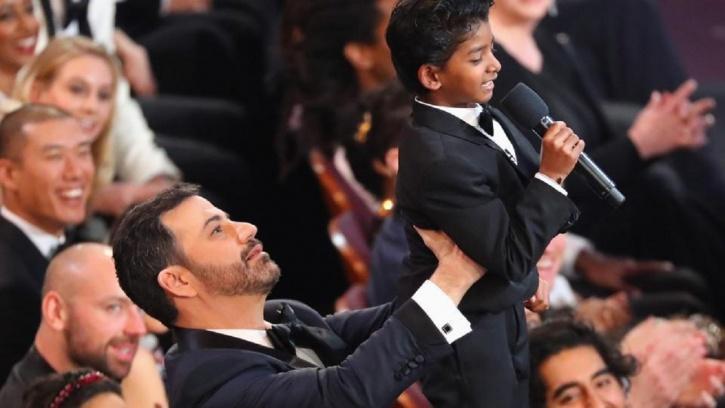 Jimmy Kimmel and Sunny Pawar