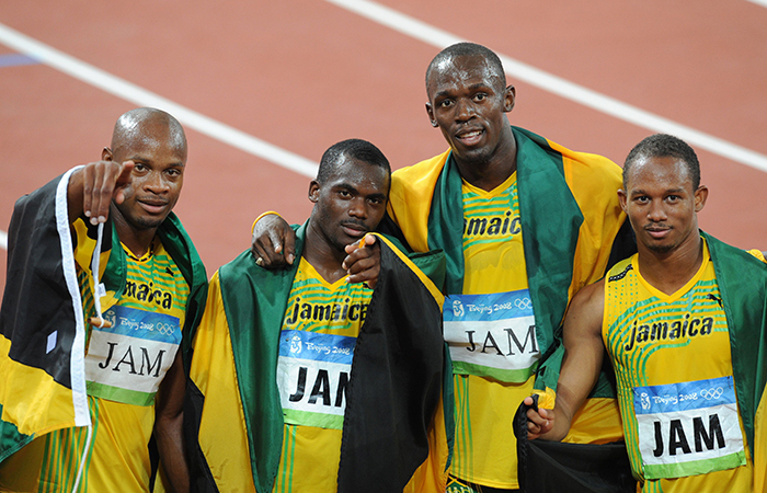 Usain Bolt and Nesta Carter