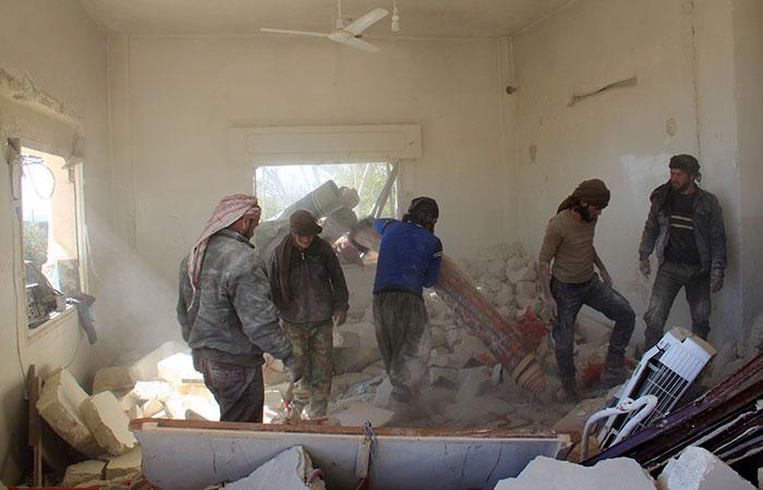 Barrel Bomb Attack In Syria