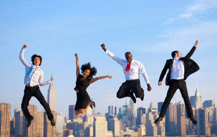 Confident people celebrate others success