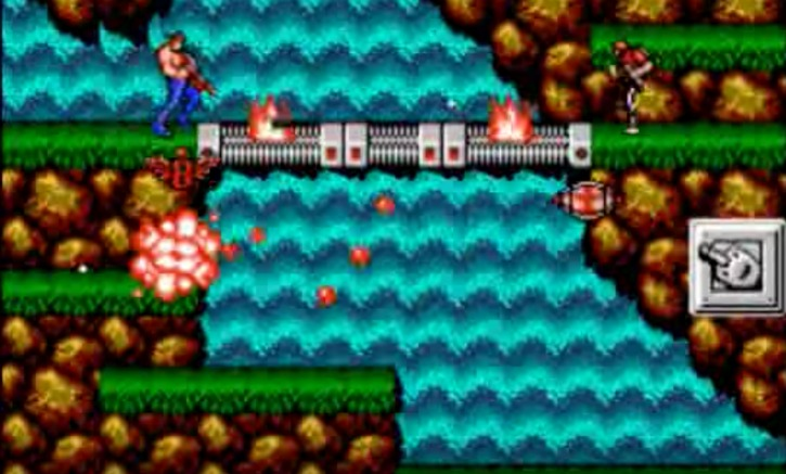 Contra waterfall level