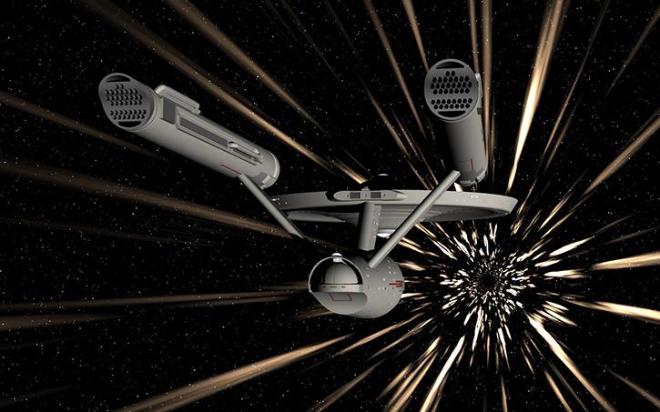 Warp factor 9 Star Trek
