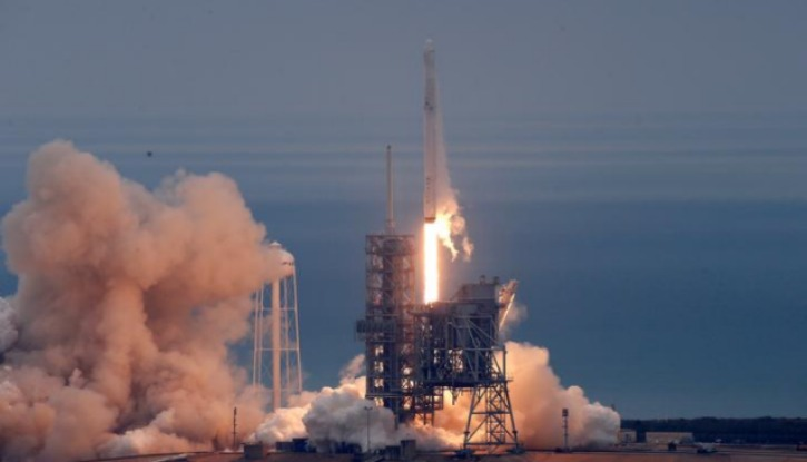 Falcon 9 takes off from Cape Canaveral Florida NASA Base