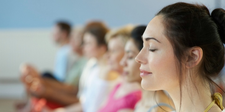 Focus on breathing while meditating