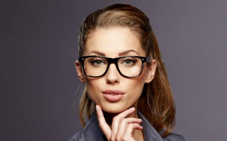 Girls wearing glasses