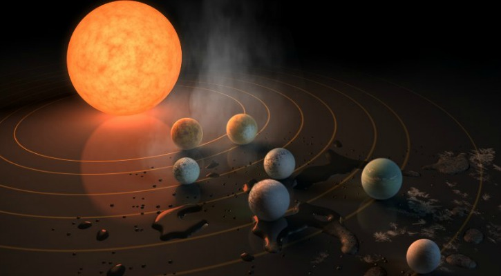 NASA Trappist-1 solar system 40 lightyears away