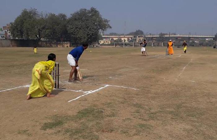 Played Cricket in Dhoti Kurta