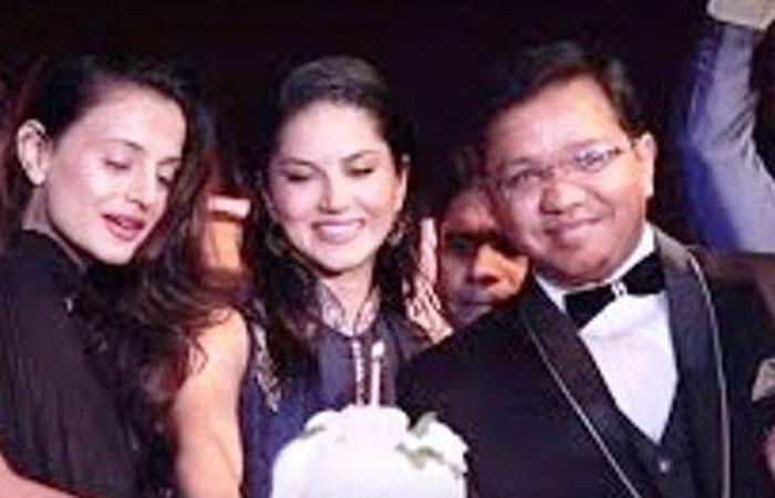Sunny Leone with Anubhav Mittal