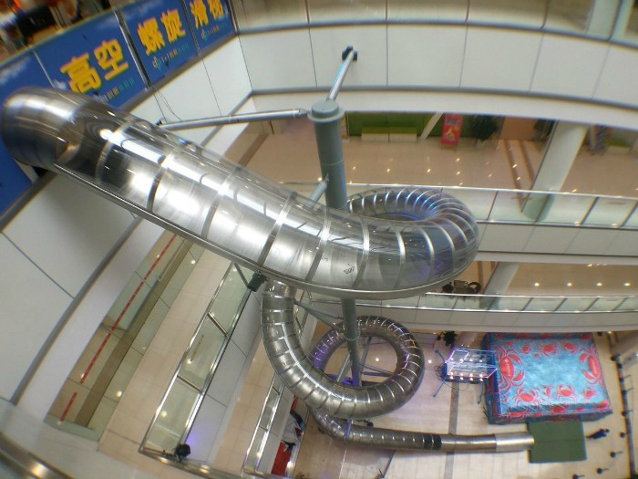 Slide in Chinese mall