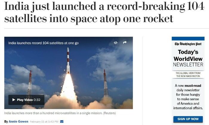 This Is How The Global Media Reported ISRO's Record Breaking