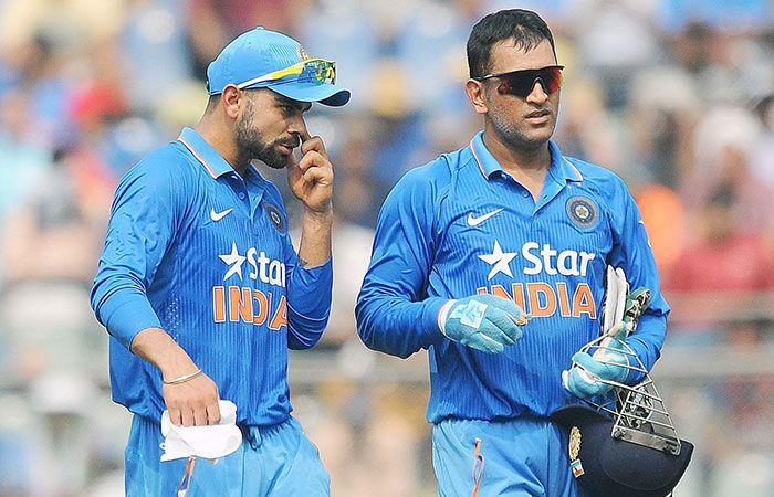 Virat Kohli and Dhoni