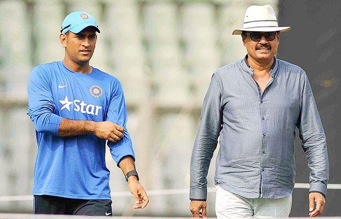 Dhoni and Dilip Vengsarkar