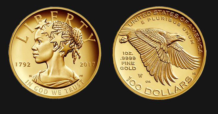 Lady Liberty On New Gold Coin