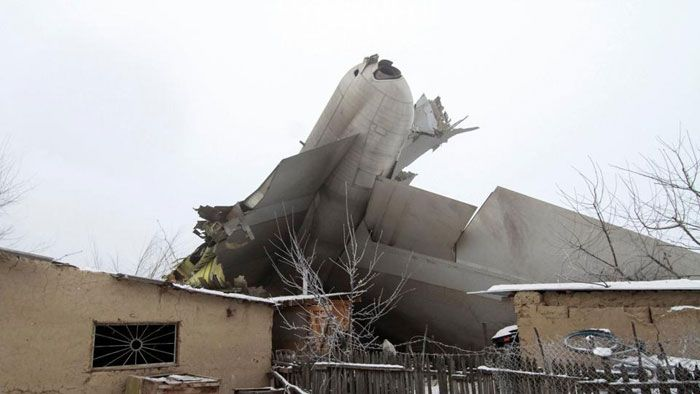 Turkish Cargo Plane Hits Village In Kyrgyzstan