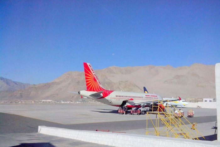 Air india at leh