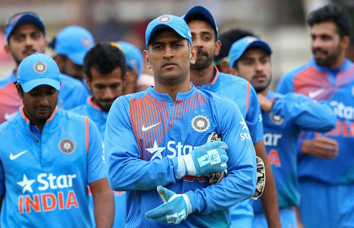 Dhoni with Other Players