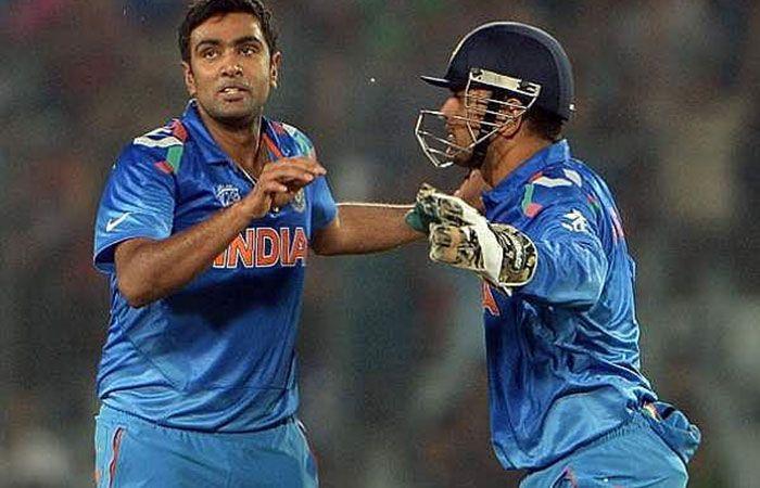 Ashwin and Dhoni