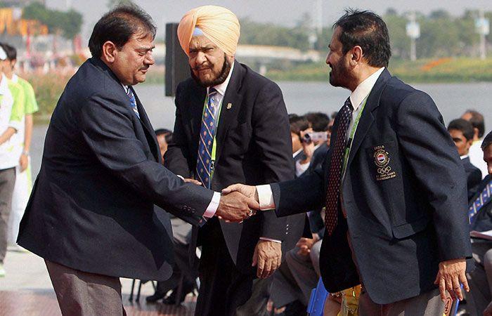 Abhay Chautala and Suresh Kalmadi