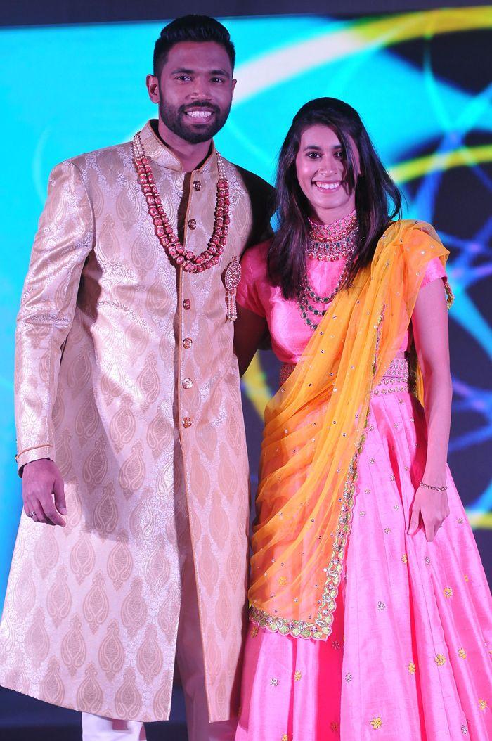 Arun Vishnu with wife Arundhati Pantawne