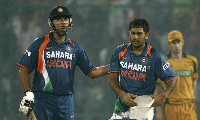 Yuvraj  and Dhoni