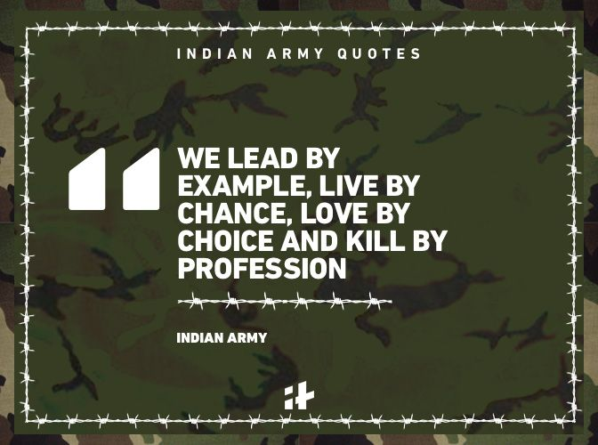Indian Army quotes