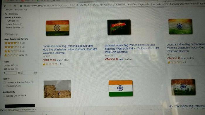 Amazon disrepects Indian flag