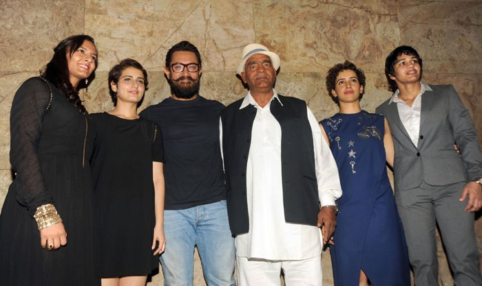 Phogat family with Dangal cast