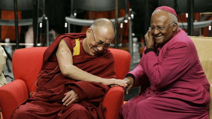 Dalai Lama playful