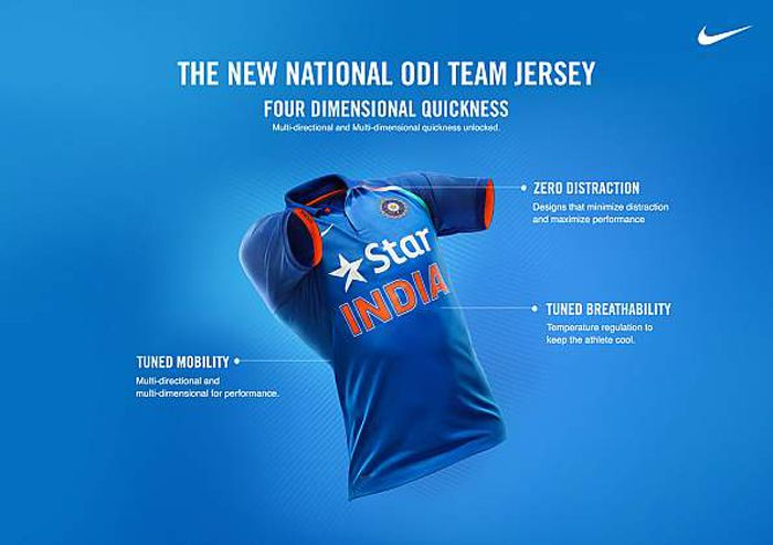 Nike launches new ODI kit for Team India