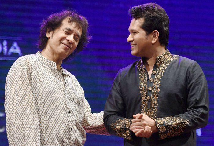 Zakir Hussain and Sachin Tendulkar