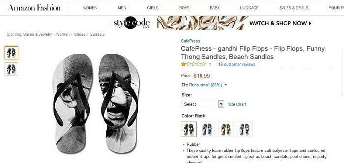 Amazon Gandhi flip-flops