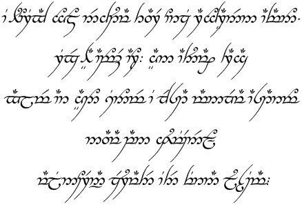 Tengwar alphabet