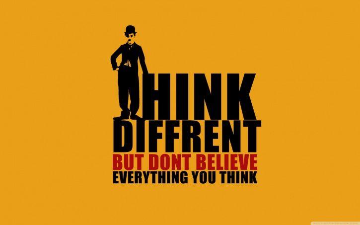 Think realistically