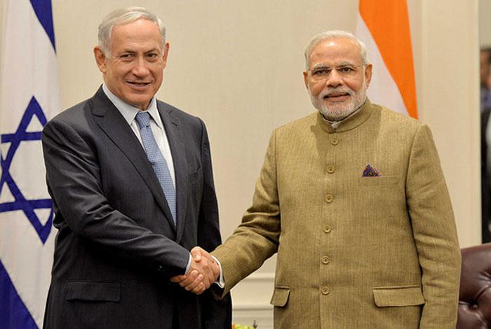modi and Benjamin Netanyahu