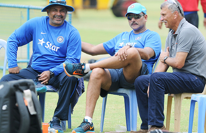Bharat Arun and Ravi Shastri