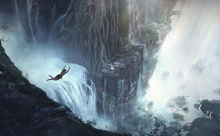 Jump on Waterfall