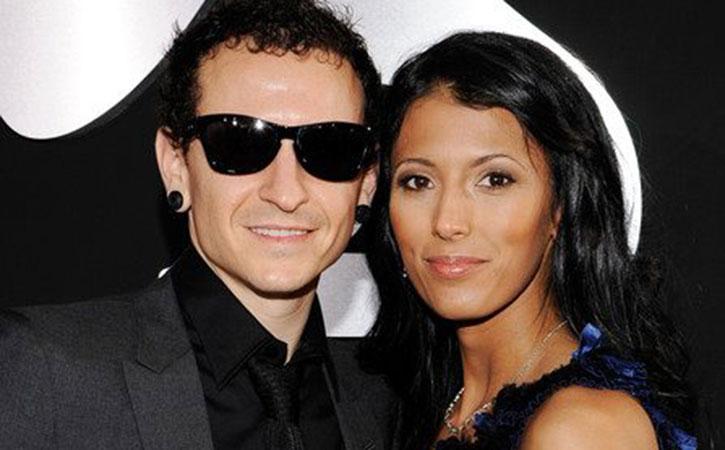 Chester Bennington with wife Talinda Bennington