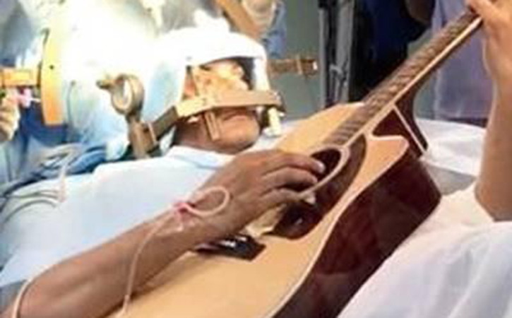 Playing Guitar In Operation