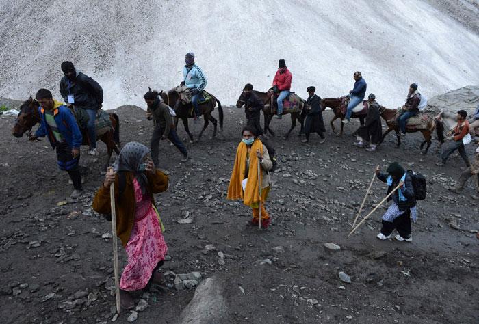 Pilgrims Amarnath