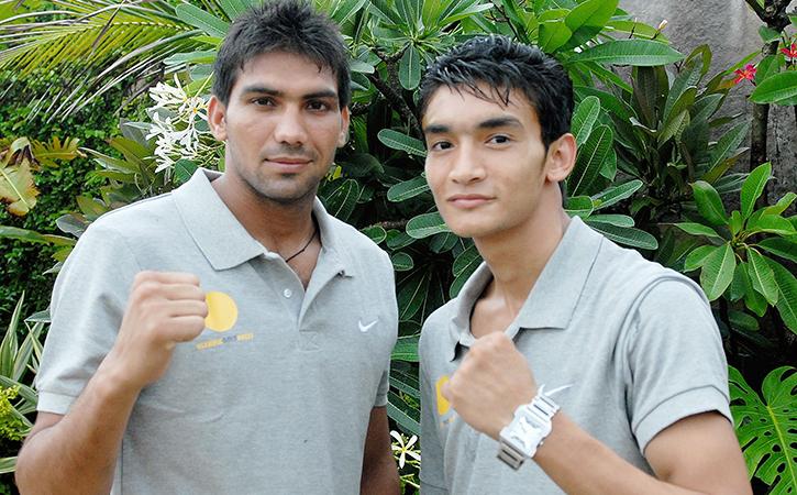 Manoj Kumar and Shiva Thapa