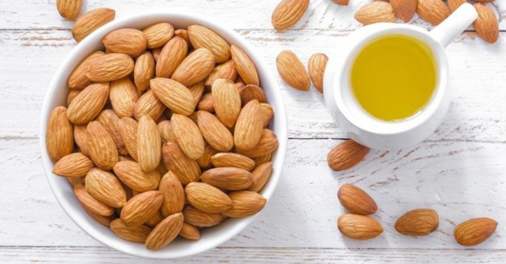 Snacking on a handful of almonds (30 grams/ 23 almonds) to stay energised through the day and for its heart health, weight and diabetes management.