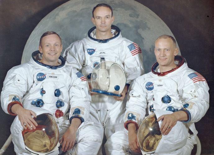 (L-R) Neil A. Armstrong, Michael Collins, and Edwin E. Aldrin Jr. - NASA