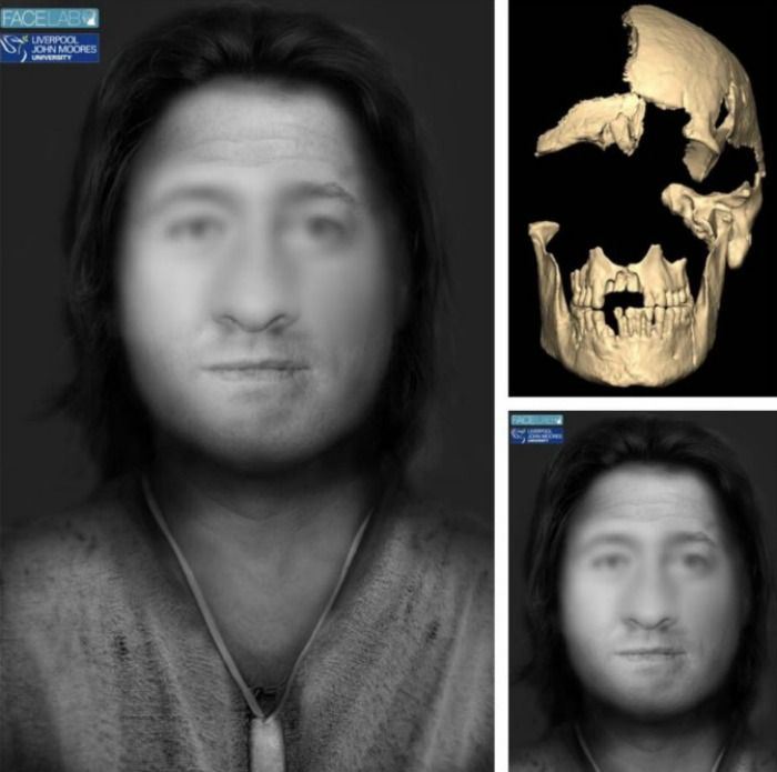 reconstruction of a man