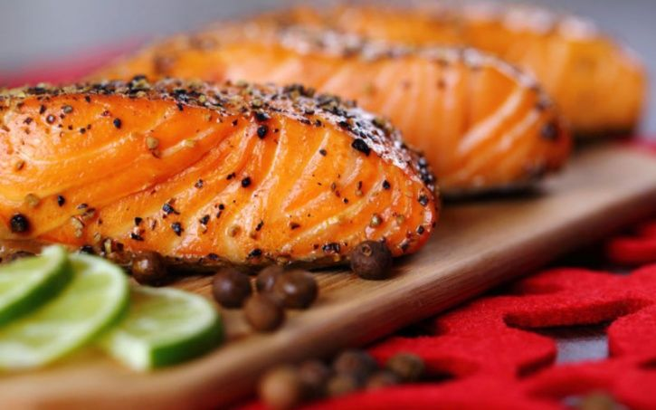 Oily fish like wild salmon, sardines, mackerel and tuna are overflowing omega-3 fatty acids. These nutrients are not only beneficial to your heart but raise your dopamine levels, which in turn increases blood flow to your nethers