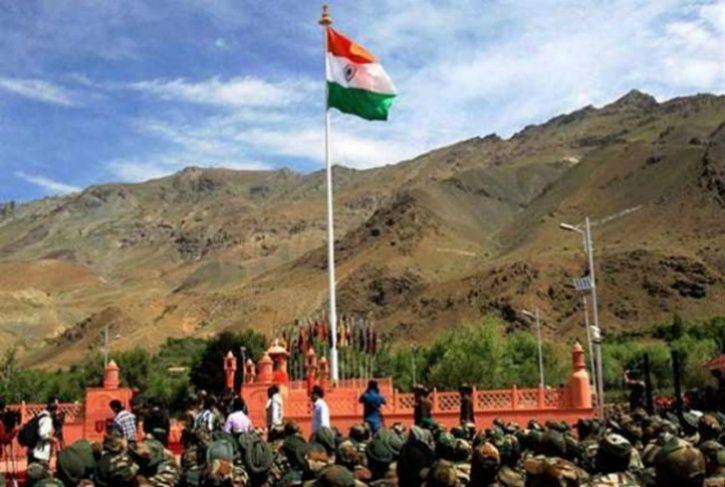 Indian flag in Attari