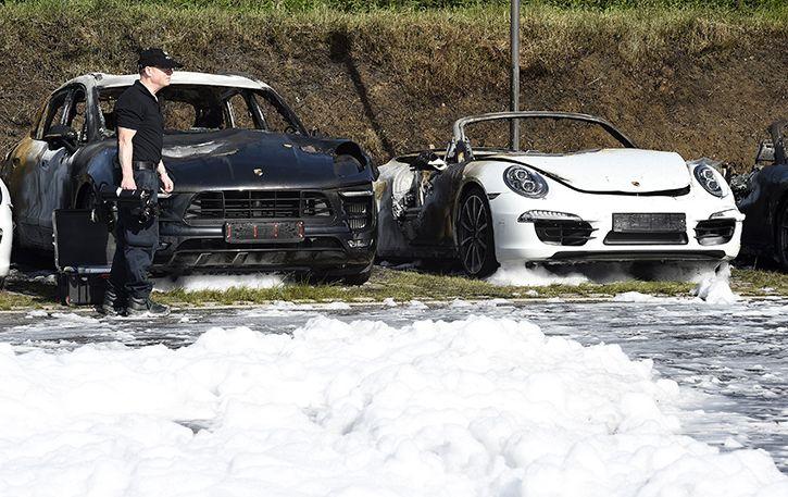 Porsche burned G20 hamburg