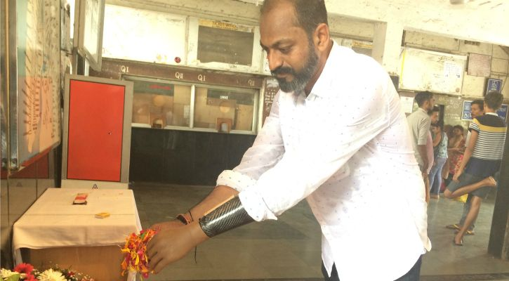 Mahendra Pitale lives on with a prosthetic left hand after the blasts
